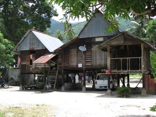 ペナンの伝統的な高床式の家